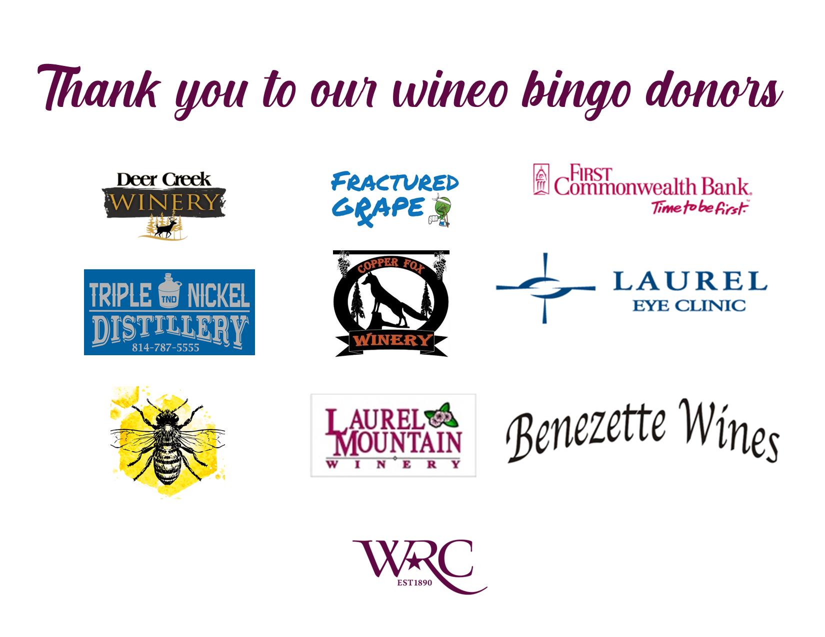 Wineo bingo donors