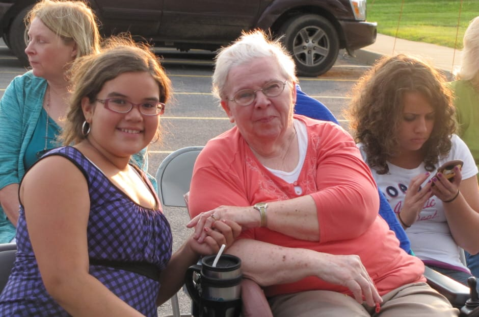 WRC Senior Services resident with granddaughter