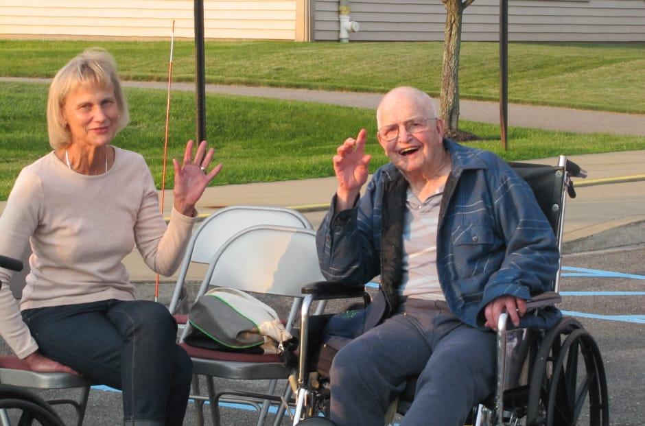 WRC Senior Services residents outside